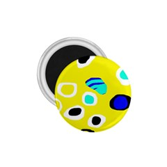 Yellow abstract pattern 1.75  Magnets