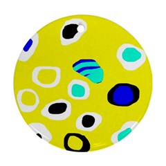 Yellow abstract pattern Ornament (Round)