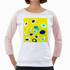Yellow abstract pattern Girly Raglans