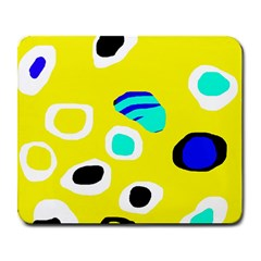 Yellow abstract pattern Large Mousepads