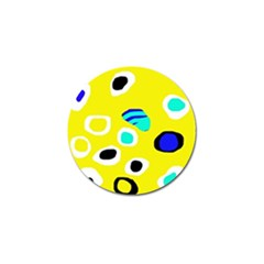 Yellow abstract pattern Golf Ball Marker (4 pack)