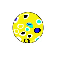 Yellow abstract pattern Hat Clip Ball Marker (4 pack)