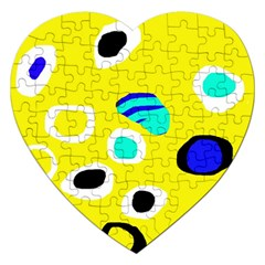 Yellow abstract pattern Jigsaw Puzzle (Heart)
