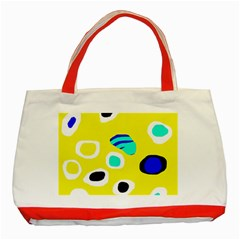 Yellow abstract pattern Classic Tote Bag (Red)