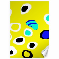 Yellow abstract pattern Canvas 12  x 18
