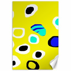 Yellow abstract pattern Canvas 24  x 36