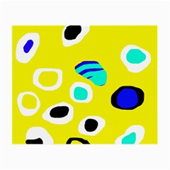 Yellow abstract pattern Small Glasses Cloth (2-Side)