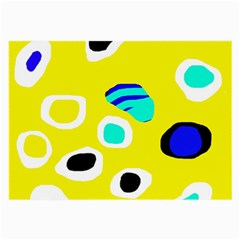 Yellow abstract pattern Large Glasses Cloth