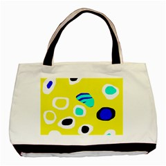 Yellow abstract pattern Basic Tote Bag (Two Sides)