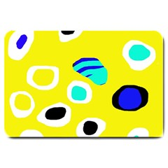 Yellow abstract pattern Large Doormat