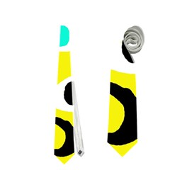 Yellow abstract pattern Neckties (Two Side)