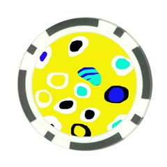 Yellow abstract pattern Poker Chip Card Guards