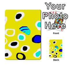 Yellow abstract pattern Multi-purpose Cards (Rectangle)