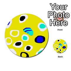 Yellow abstract pattern Multi-purpose Cards (Round)