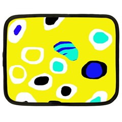 Yellow abstract pattern Netbook Case (Large)