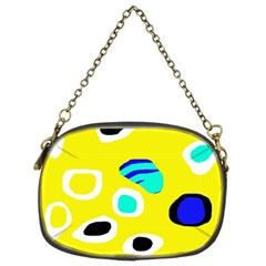 Yellow abstract pattern Chain Purses (Two Sides)