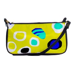 Yellow abstract pattern Shoulder Clutch Bags