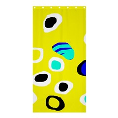 Yellow abstract pattern Shower Curtain 36  x 72  (Stall)