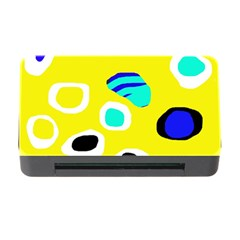 Yellow abstract pattern Memory Card Reader with CF