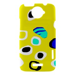 Yellow abstract pattern HTC One X Hardshell Case