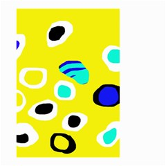 Yellow abstract pattern Small Garden Flag (Two Sides)