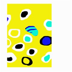 Yellow abstract pattern Large Garden Flag (Two Sides)