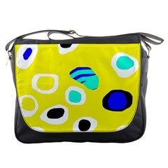 Yellow abstract pattern Messenger Bags