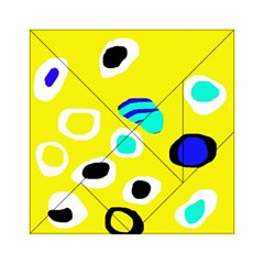 Yellow abstract pattern Acrylic Tangram Puzzle (6  x 6 )