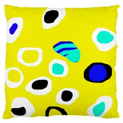 Yellow abstract pattern Large Cushion Case (One Side)