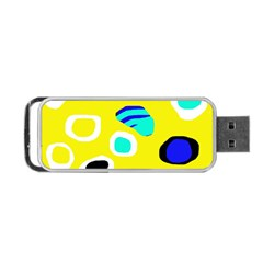 Yellow abstract pattern Portable USB Flash (Two Sides)