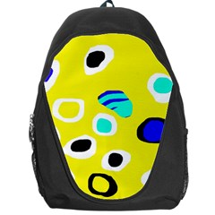 Yellow abstract pattern Backpack Bag