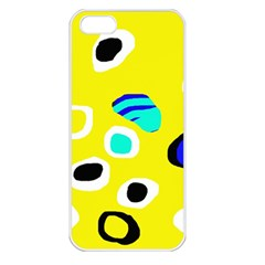 Yellow abstract pattern Apple iPhone 5 Seamless Case (White)
