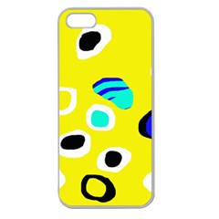 Yellow abstract pattern Apple Seamless iPhone 5 Case (Clear)