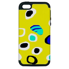 Yellow abstract pattern Apple iPhone 5 Hardshell Case (PC+Silicone)