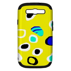 Yellow Abstract Pattern Samsung Galaxy S Iii Hardshell Case (pc+silicone)