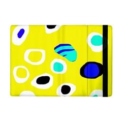 Yellow abstract pattern Apple iPad Mini Flip Case