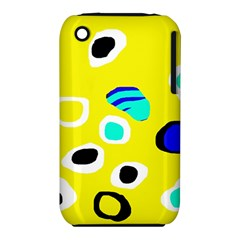 Yellow abstract pattern Apple iPhone 3G/3GS Hardshell Case (PC+Silicone)