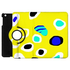 Yellow abstract pattern Apple iPad Mini Flip 360 Case