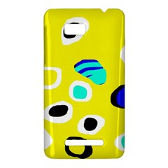 Yellow abstract pattern HTC One SU T528W Hardshell Case