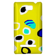Yellow abstract pattern HTC 8S Hardshell Case
