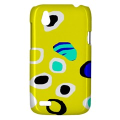 Yellow abstract pattern HTC Desire V (T328W) Hardshell Case