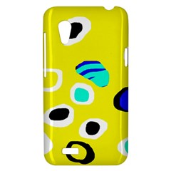 Yellow abstract pattern HTC Desire VT (T328T) Hardshell Case