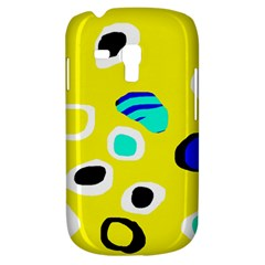Yellow abstract pattern Samsung Galaxy S3 MINI I8190 Hardshell Case