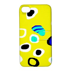 Yellow abstract pattern Apple iPhone 4/4S Hardshell Case with Stand