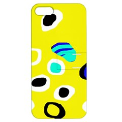 Yellow abstract pattern Apple iPhone 5 Hardshell Case with Stand
