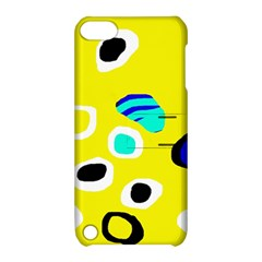 Yellow abstract pattern Apple iPod Touch 5 Hardshell Case with Stand