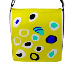 Yellow abstract pattern Flap Messenger Bag (L)