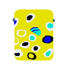 Yellow abstract pattern Apple iPad 2/3/4 Protective Soft Cases