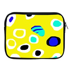 Yellow abstract pattern Apple iPad 2/3/4 Zipper Cases