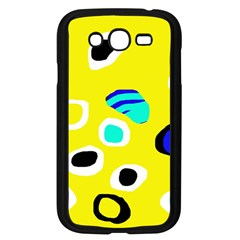 Yellow abstract pattern Samsung Galaxy Grand DUOS I9082 Case (Black)